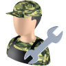 96x96px size png icon of Serviceman