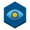 96x96px size png icon of eye in a sky