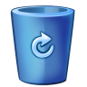 96x96px size png icon of bin blue full