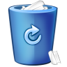 96x96px size png icon of bin blue