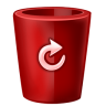 96x96px size png icon of bin red full