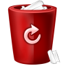 96x96px size png icon of bin red