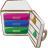 96x96px size png icon of archive white