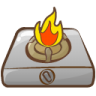 96x96px size png icon of cooker fire