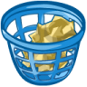 96x96px size png icon of trash basket full