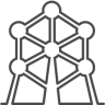 96x96px size png icon of brussels atomium