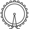 96x96px size png icon of london wheel