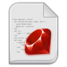 96x96px size png icon of app x ruby