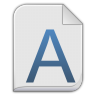96x96px size png icon of font x generic