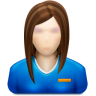 96x96px size png icon of user female