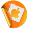 96x96px size png icon of apple sticker