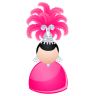 96x96px size png icon of Magic woman pink