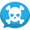 96x96px size png icon of Jolly roger bubble chat