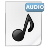 96x96px size png icon of mimetypes audio 1