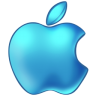 96x96px size png icon of Apple Blue