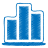 96x96px size png icon of blue chart