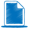 96x96px size png icon of blue document