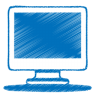 96x96px size png icon of blue monitor