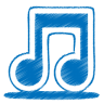 96x96px size png icon of blue music