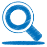 96x96px size png icon of blue search