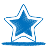 96x96px size png icon of blue star