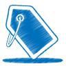 96x96px size png icon of blue tag