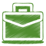96x96px size png icon of green case