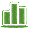 96x96px size png icon of green chart