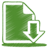 96x96px size png icon of green document download