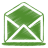 96x96px size png icon of green mail open