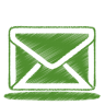 96x96px size png icon of green mail