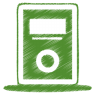 96x96px size png icon of green mp3 player