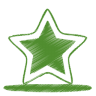 96x96px size png icon of green star