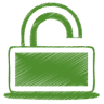 96x96px size png icon of green unlock