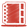 96x96px size png icon of red address book