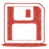 96x96px size png icon of red disk