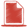 96x96px size png icon of red document