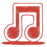 96x96px size png icon of red music