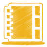 96x96px size png icon of yellow address book