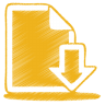 96x96px size png icon of yellow document download