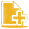 96x96px size png icon of yellow document plus