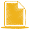 96x96px size png icon of yellow document