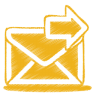96x96px size png icon of yellow mail send
