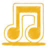 96x96px size png icon of yellow music