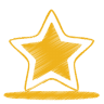 96x96px size png icon of yellow star