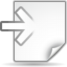 96x96px size png icon of actions document import