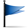 96x96px size png icon of actions flag blue