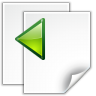 96x96px size png icon of actions go previous view page