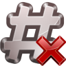 96x96px size png icon of actions irc close channel