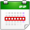 96x96px size png icon of actions view calendar week
